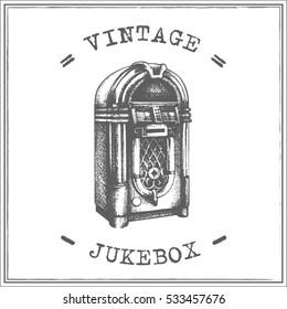 Vintage jukebox vector