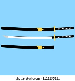 Japanese blade Stock Illustrations, Images & Vectors