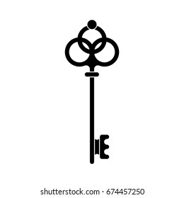 vintage key icon