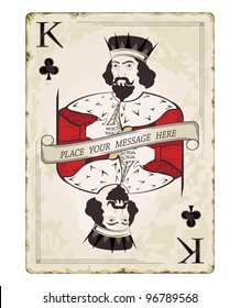 Vintage king of clubs, playing card