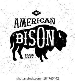 vintage label American Bison