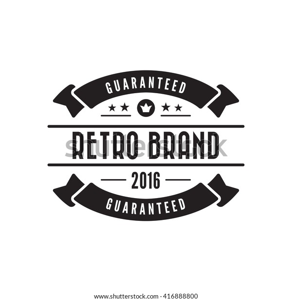 Vintage Label Badge Logo Design Vector Stock Vector Royalty Free