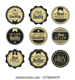 vintage label and badges, vector design element.