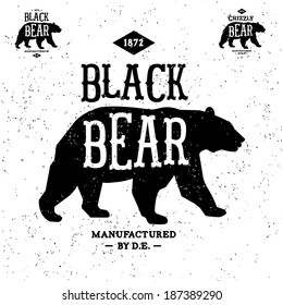 vintage label bear ( T-Shirt Print )