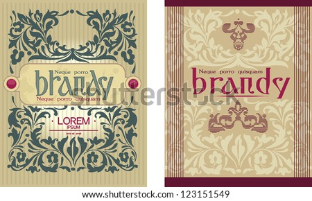 vintage label design template sticker template stock vector royalty