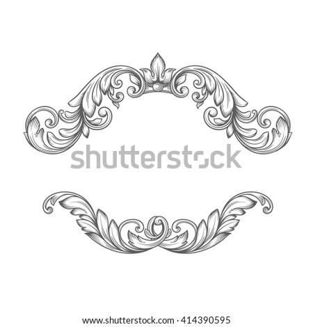 Vintage Label Frame Design Elements Victorian Stock Vector (Royalty ...