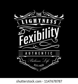 Vintage label hand drawn border typography blackboard vector