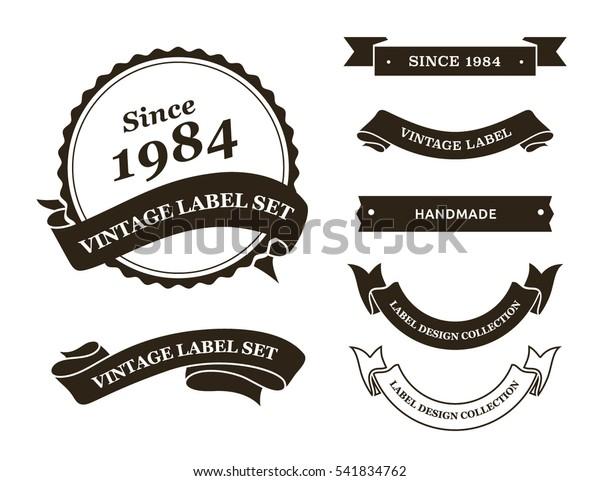Vintage Label Vector Set Stock Vector (Royalty Free) 541834762