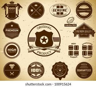 Vintage labels. Collection 10