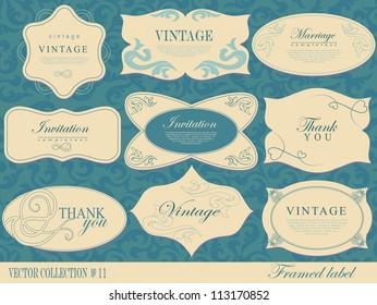 Vintage Labels Collection  design elements