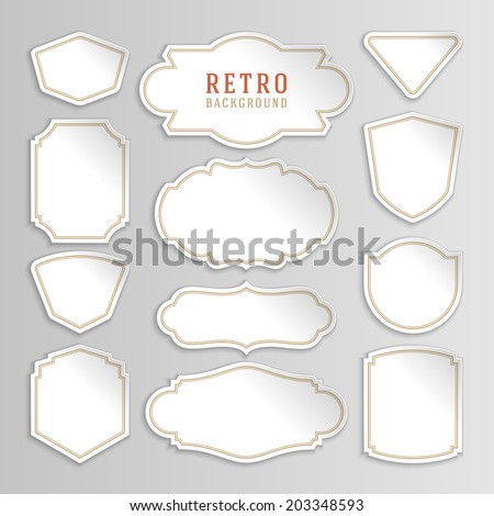 vintage labels design retro style borders stock vector royalty free