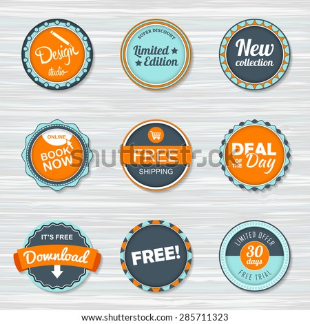 f39c34073a002 Vintage Labels Template Set Free Shipping Stock Vector (Royalty Free ...