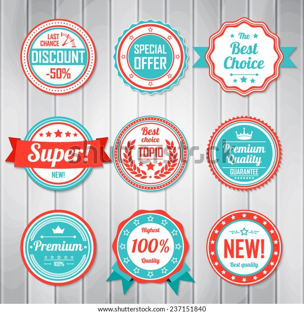 Vintage Labels Template Set Retro Badges Stock Vector Royalty Free