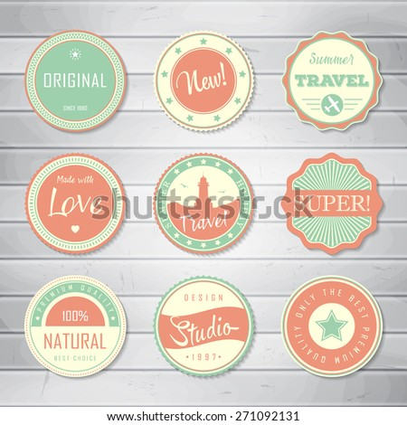 Vintage labels template set super original stock vector royalty vintage labels template set super original new best choice travel maxwellsz