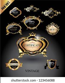Vintage labels-Royal design