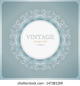 Vintage lace background in blue tones