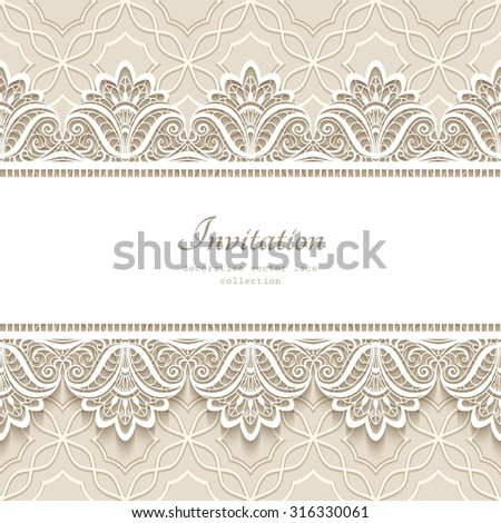 980afda2d5 Vintage Lace Background Seamless Border Ornament Stock Vector ...