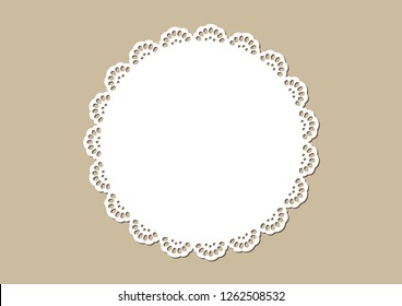 Vintage lace doily, decorative place mat, laser cutting design