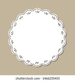Vintage Lace Doily, Decorative Place Mat Design, Laser Cutting Template