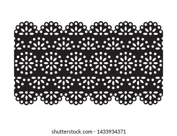 Vintage Lace Eyelet, Decorative Ornament for Fabric Borders, Paper Cut Out Design