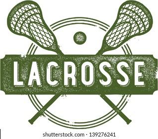 Vintage Lacrosse Sport Clip Art