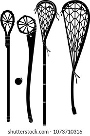 Vintage Lacrosse Stick Set