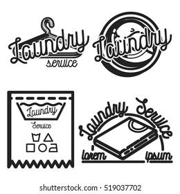 Vintage laundry emblems