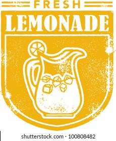 Vintage Lemonade Stamp