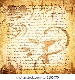 Vintage Letter (18 Century) Grunge Medicine Background