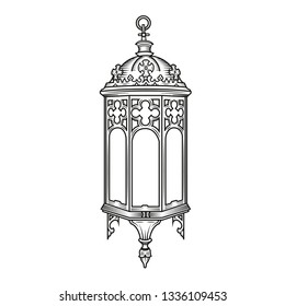 victorian lantern template  Lantern Victorian Stock Illustrations, Images & Vectors ...
