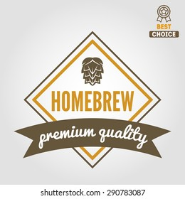 Vintage logo, badge, emblem or logotype elements for beer, beer shop, home brew, tavern, bar, cafe and restaurant