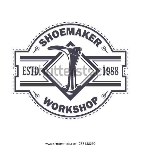 Vintage Logo Badge Emblem Shoemaker Shoes Stock Vector (Royalty Free