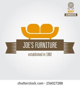 Vintage logo, badge,emblem or logotype for furniture shop