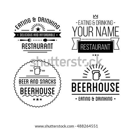 Vintage Logo Coffee Shop Template Restaurant Stock-Vektorgrafik ...