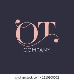 Vintage logo design letter O T/ T O