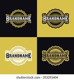 Vintage logo, emblem, label, badge design elements.