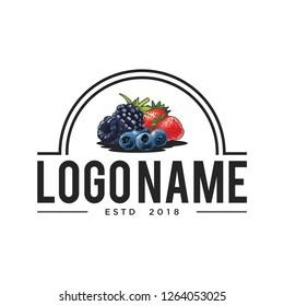 vintage logo icon fruits
