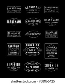VINTAGE LOGO, INSIGNIA & BADGE BUNDLE 3. perfect for identity, logo, insignia or badge design with retro vintage looks. it is also good for print design such clothing line, merchandise etc.