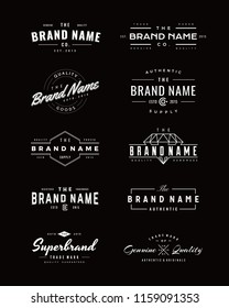 Vintage Logo and insignia set. perfect for identity, logo, insignia or badge design with retro vintage looks. it is also good for print design such clothing line, merchandise etc.