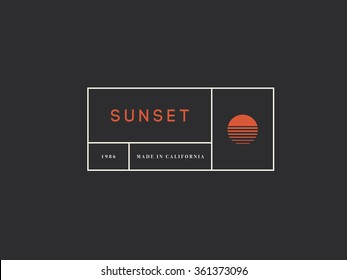 Vintage logo template, Hotel, Business or Boutique Identity.