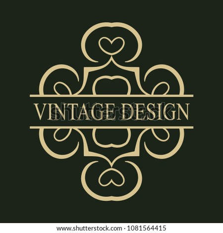 vintage logo template labels vector logotype stock vector royalty