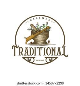 Vintage logo for traditional medicines