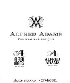 Vintage Logos based on AA Monogram