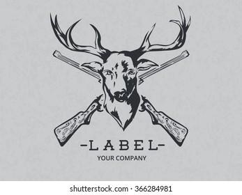 Vintage logotype wild nature