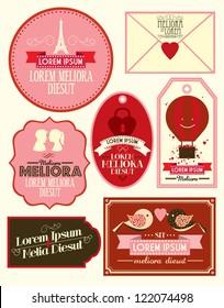 vintage love template vector/illustration