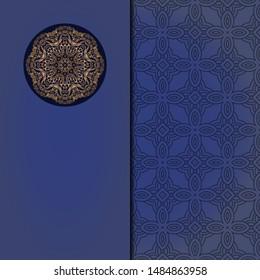 Vintage luxury decorative design of golden mandala. Vector