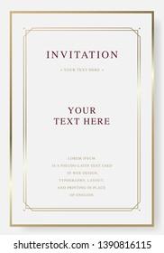 Vintage luxury golden vector invitation