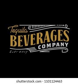 Vintage Luxury Label Logo Design inspiration for Beverage