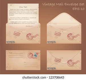Vintage mail envelope set