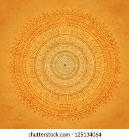 Vintage mandala background. Vector image.